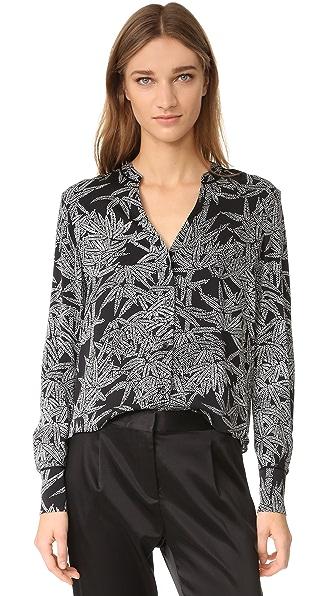Diane von Furstenberg Рубашка с V-образным вырезом и длинными рукавами
