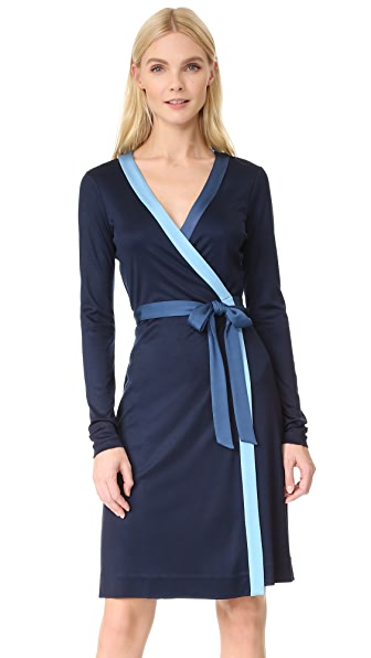 Diane von Furstenberg Long Taped Wrap Dress
