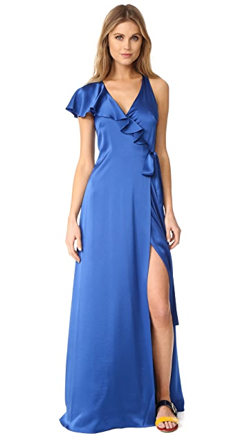 Diane von Furstenberg Sleeveless Ruffle Wrap Dress