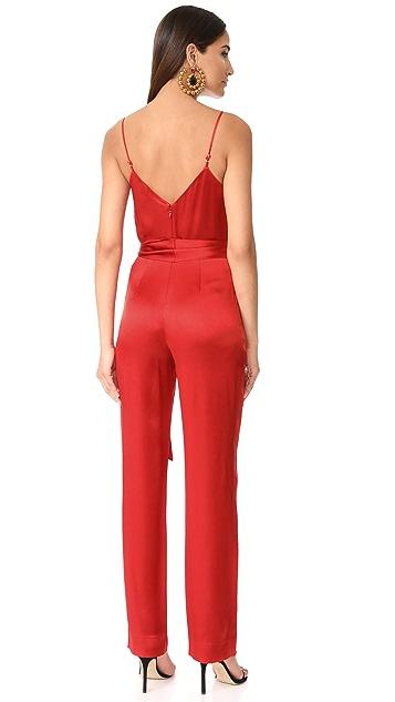 Diane von Furstenberg Sleeveless Pleat Front Jumpsuit