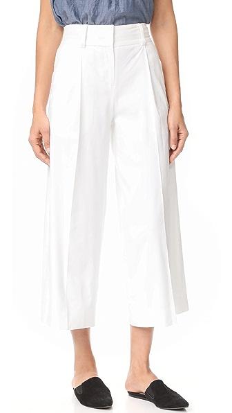 Diane von Furstenberg High Waisted Culotte - White