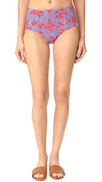 Diane von Furstenberg High Waisted Bikini Bottoms