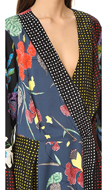 Diane von Furstenberg Long Sleeve Crossover Dress
