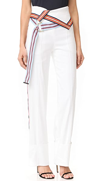 Diane von Furstenberg Wide Leg Ribbon Pants