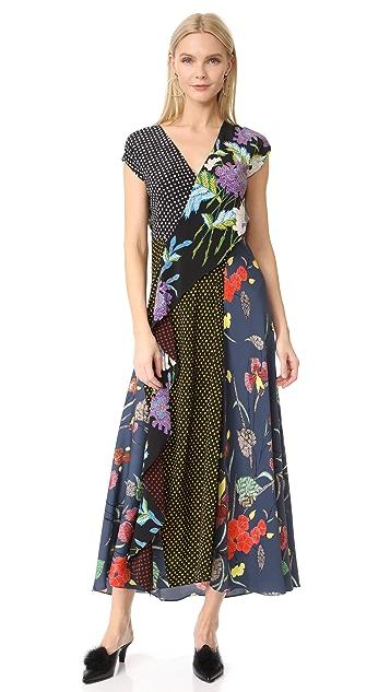 Diane von Furstenberg Ruffle Drape Dress