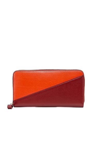 Diane von Furstenberg Slim Zip Continental Wallet