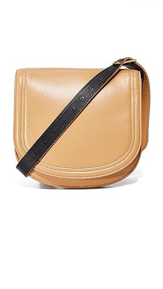 Diane von Furstenberg Small Saddle Bag - Wheat