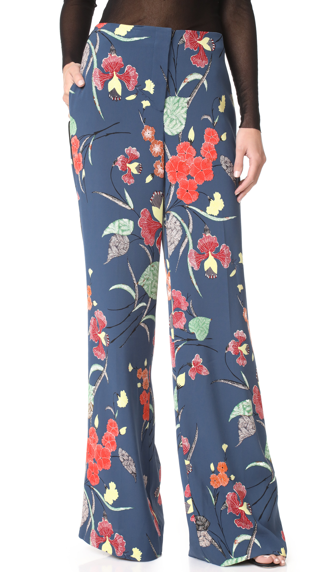 Karlie Kloss Wears Kimono Style Pants In Tokyo Daily Mail Online Rodeo Ellie Black Diane Von Furstenberg Wide Leg At Shopbopcom
