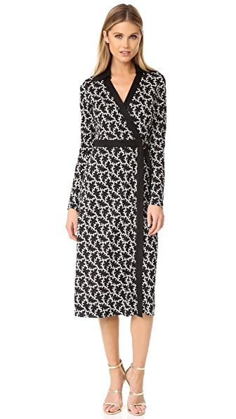 Diane von Furstenberg Printed D Ring Wrap Dress