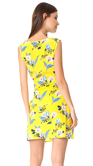 Diane von Furstenberg Tie Waist Mini Dress