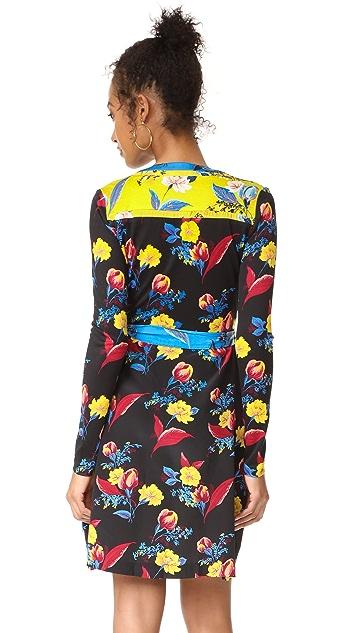 Diane von Furstenberg Long Sleeve Wrap Dress