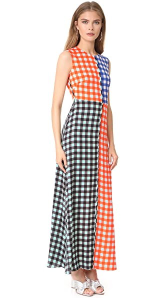 Diane von Furstenberg Sleeveless High Neck Flare Dress In Cossier Klein
