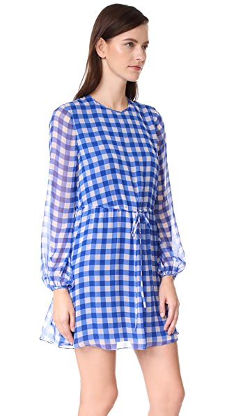 DIANE VON FURSTENBERG Check Mini Dress