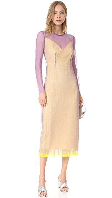 Diane von Furstenberg L/S Crewneck Two Layered Dress