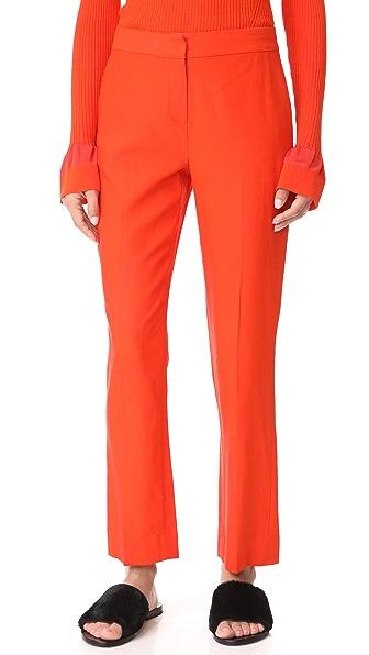 Diane von Furstenberg Cigarette Pants - Bold Red