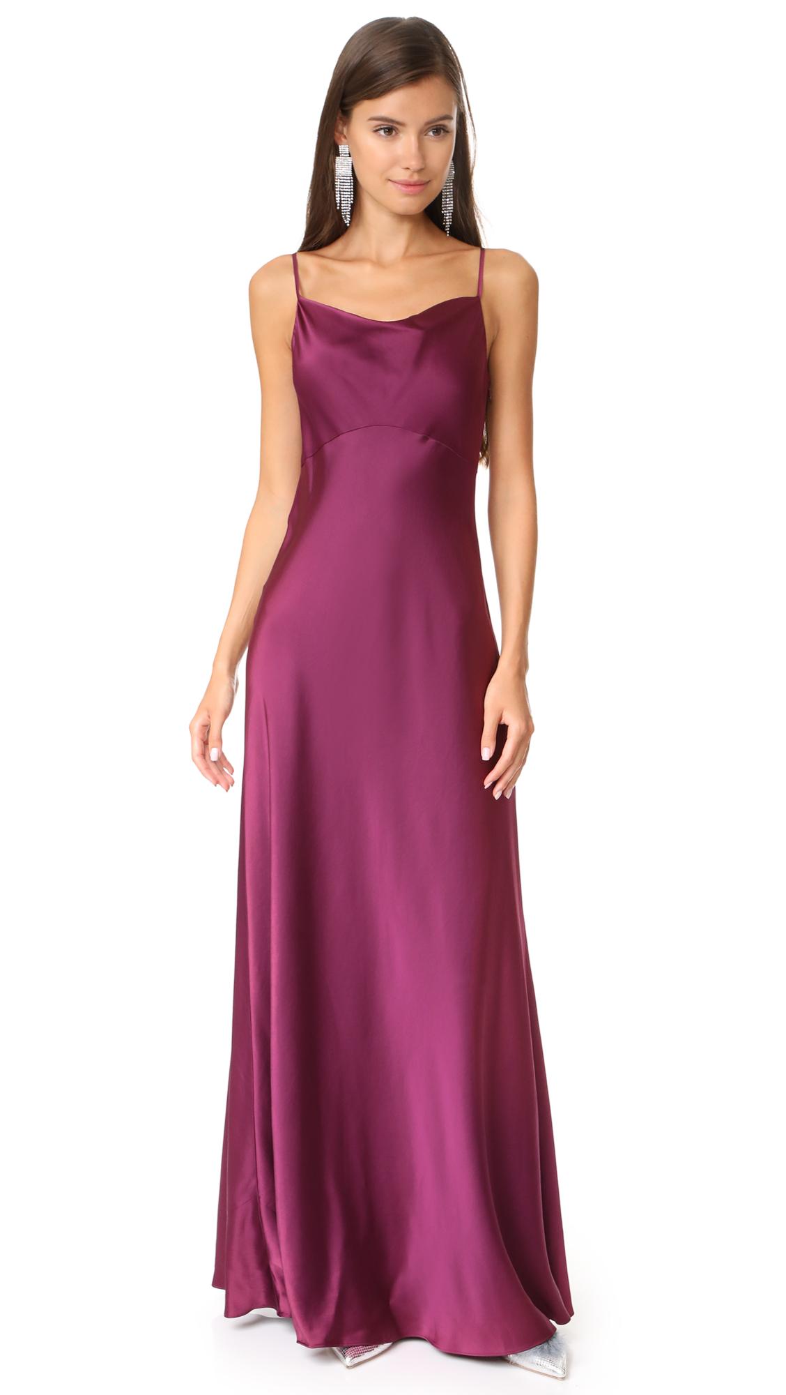 Diane von Furstenberg Sleeveless Cowl Neck Gown - Aubergine