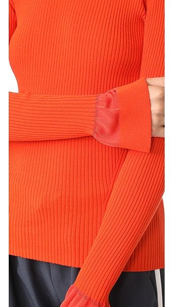 Diane von Furstenberg Crew Neck Fitted Sweater
