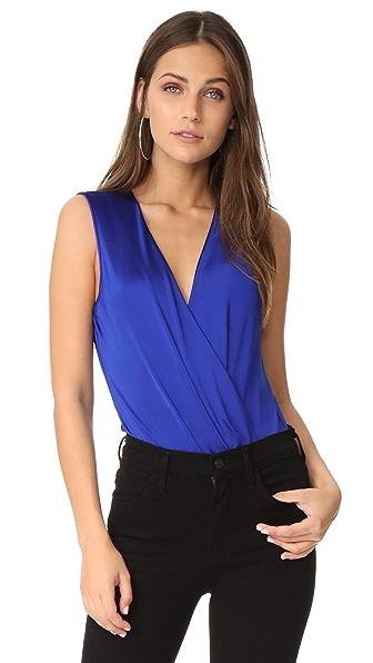 Diane von Furstenberg Sleeveless Lala Bodysuit In Klein Blue