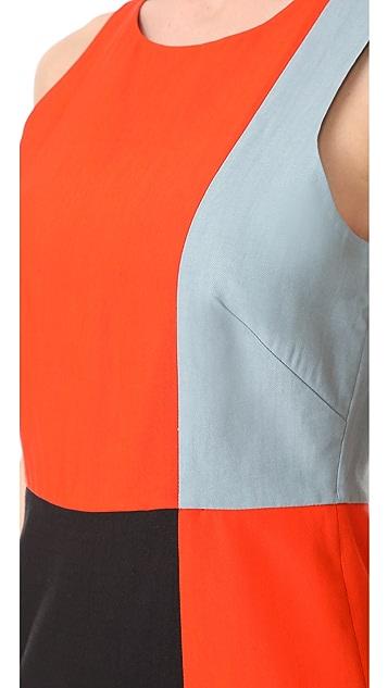 Diane von Furstenberg Sleeveless Paneled Tailored Dress