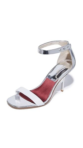 Diane von Furstenberg Ferrara Sandals - White/Silver