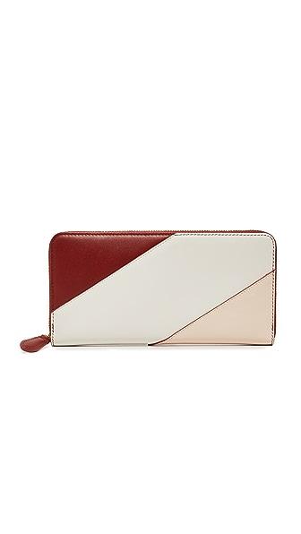 Diane von Furstenberg Continental Wallet - Red Wine/Petal