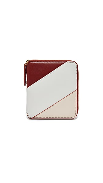 Diane von Furstenberg Small Zip Around Wallet - Red Wine/Petal