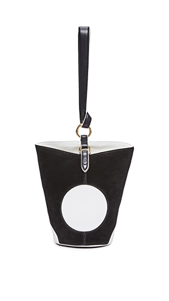 Diane von Furstenberg Mini Steamer Bag - Black/Ivory