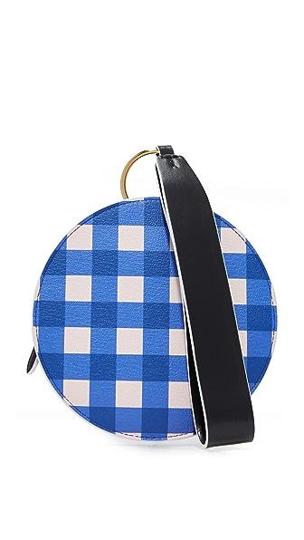 Diane von Furstenberg Circle Wristlet - Cossier Klein Blue/Black/White