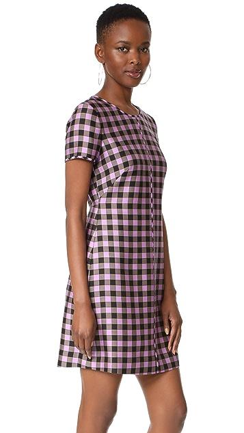 Diane von Furstenberg Crew Neck Mini Dress