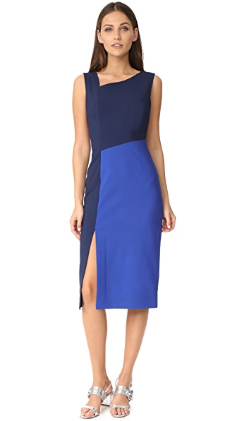 Diane von Furstenberg Sleeveless Asymmetrical Midi Dress at Shopbop