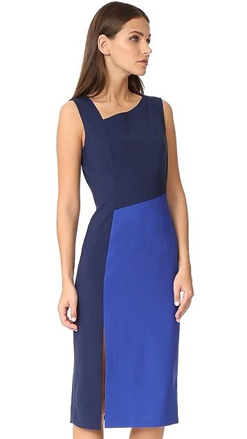 Diane von Furstenberg Sleeveless Asymmetrical Midi Dress