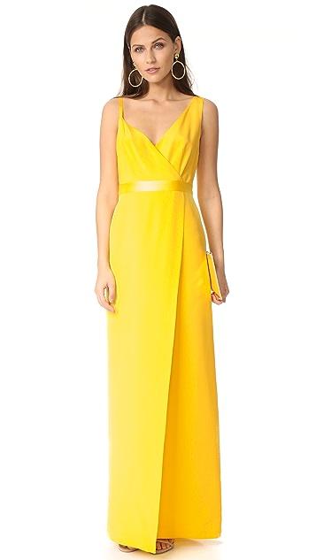 Diane von Furstenberg Asymmetrical Side Slit Gown