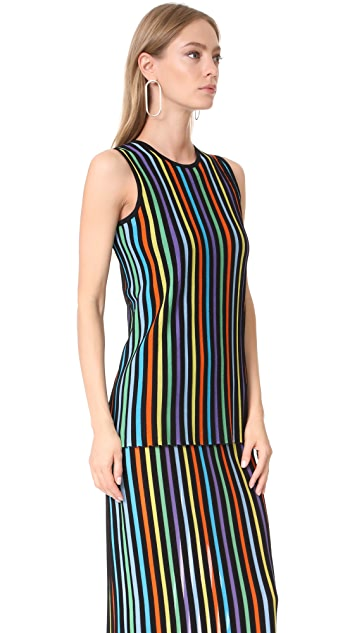 Diane von Furstenberg Sleeveless Two Tiered Knit Dress