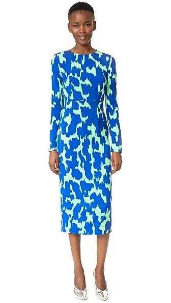 Diane von Furstenberg Tailored Midi Dress - Eylan Klein Blue