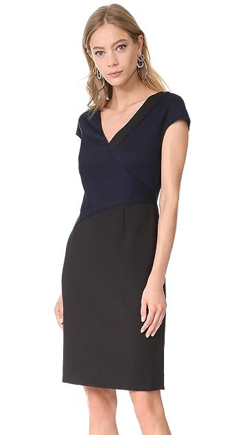 Diane von Furstenberg V Neck Banded Dress