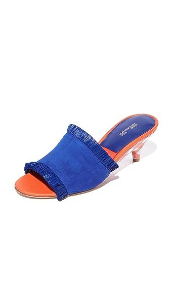 Diane von Furstenberg Gimli City Slides - Klein Blue