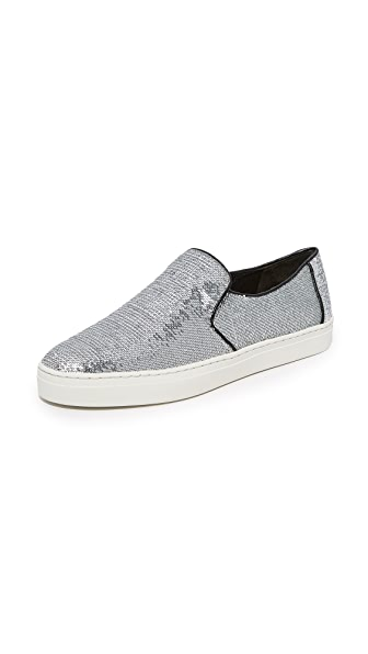 Diane von Furstenberg Budapest Slip On Sneakers - Silver