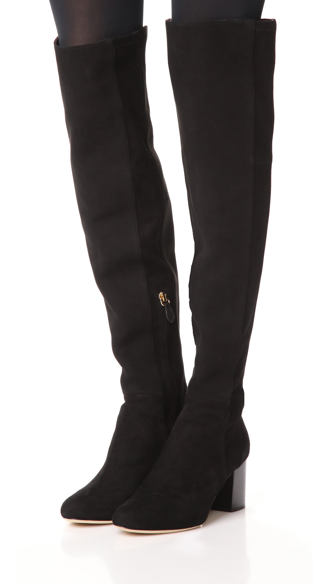 Buy Authentic Online Clearance Cheapest Price Diane Von Furstenberg Woman Suede Over-the-knee Boots Black Size 7.5 Diane Von F Exclusive Online g8AFuWP