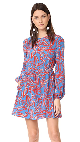 Diane von Furstenberg Crew Neck Mini Dress - Elsden Denim