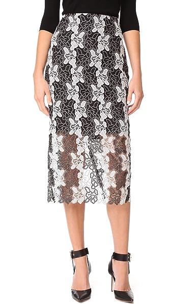 Diane von Furstenberg Pencil Skirt - Black/White