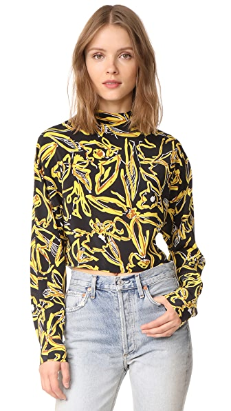 Diane von Furstenberg High Neck Blouse - Elsden Black