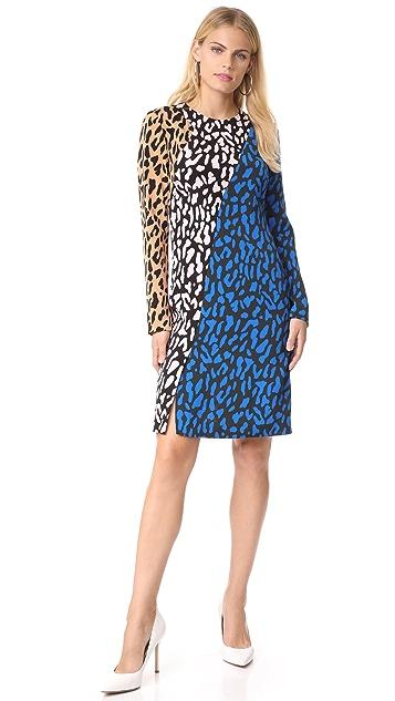 Diane von Furstenberg Long Sleeve Bias Fitted Dress