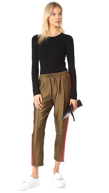 Diane von Furstenberg Crew Neck Fitted Pullover