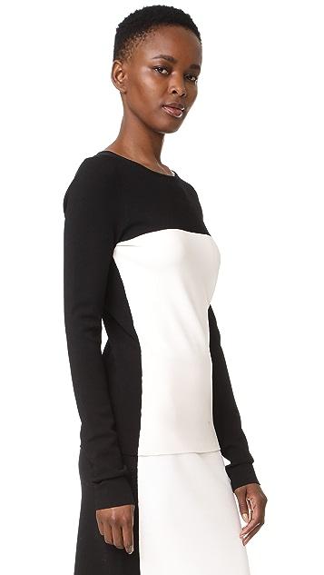 Diane von Furstenberg Colorblock Fitted Pullover