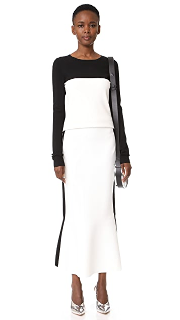 Diane von Furstenberg Pull On Knit Flare Skirt