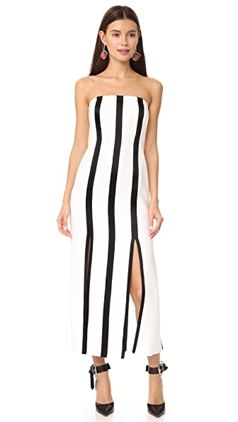 Diane von Furstenberg Strapless Structured Midi Dress at Shopbop