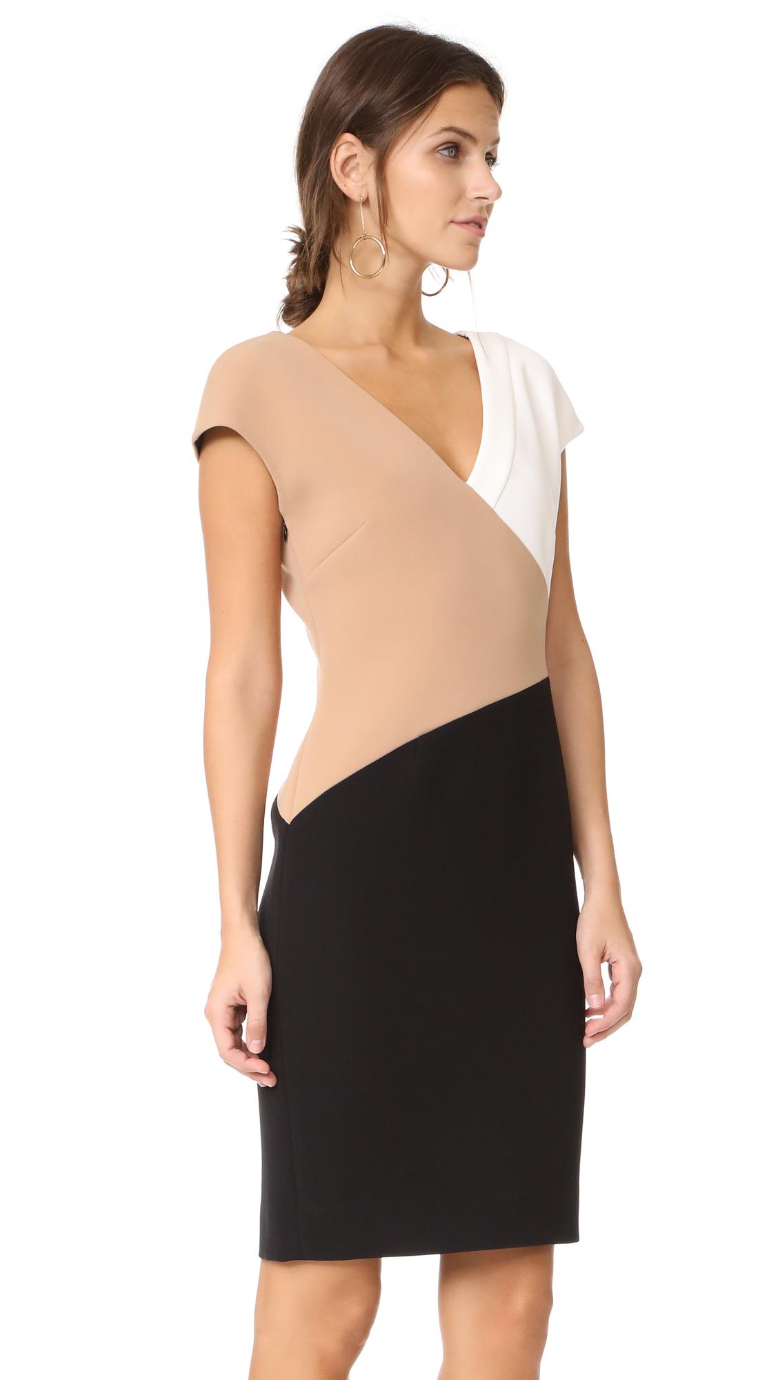 687431bc0b8d18 Diane von Furstenberg V Neck Banded Dress