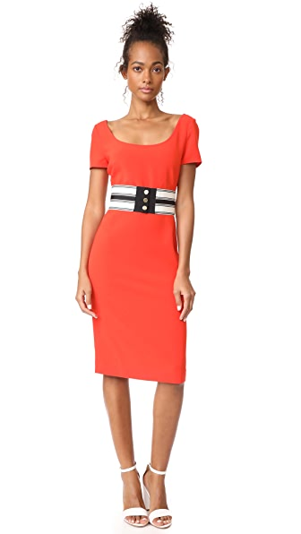 Diane von Furstenberg Scoop Neck Belted Dress at Shopbop
