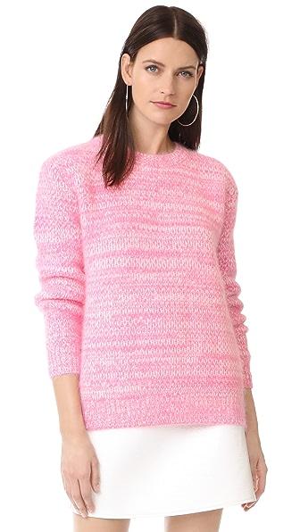 Diane von Furstenberg Angora Marl Sweater In Azalea/Ivory