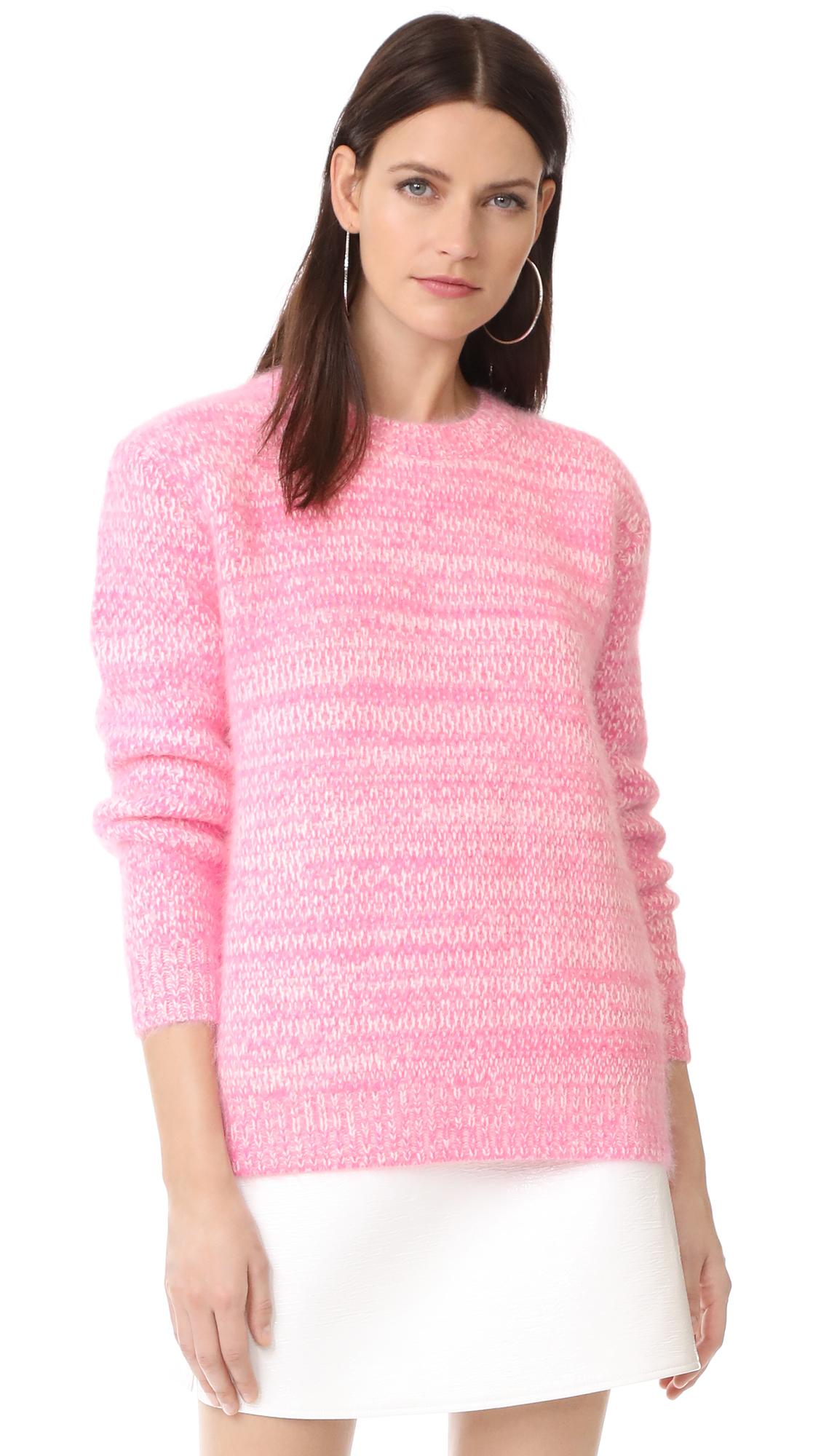 Diane von Furstenberg Angora Marl Sweater - Azalea/Ivory